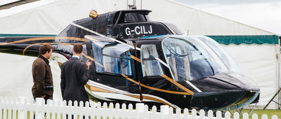 Helicopter sales event
