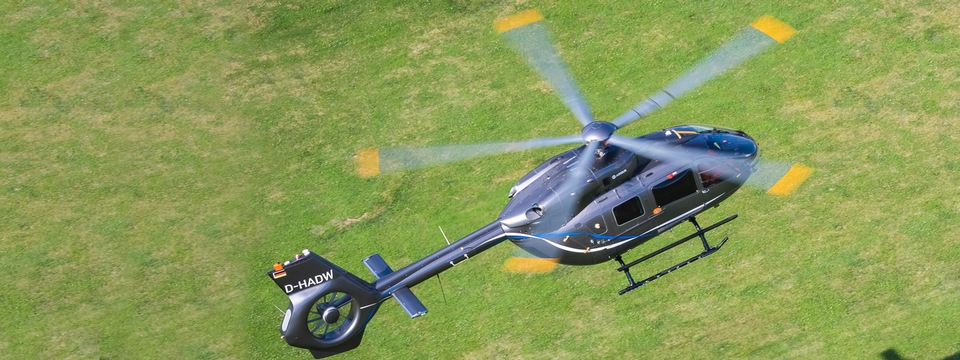 Helicopter airborne at RotorTech UK