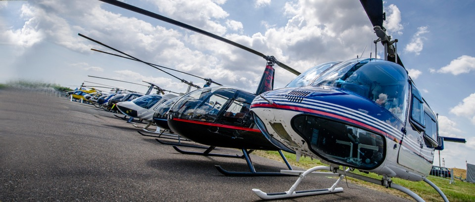 Helicopters on static display